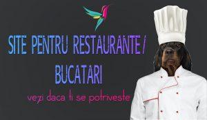 Site pentru restaurante / bucatari